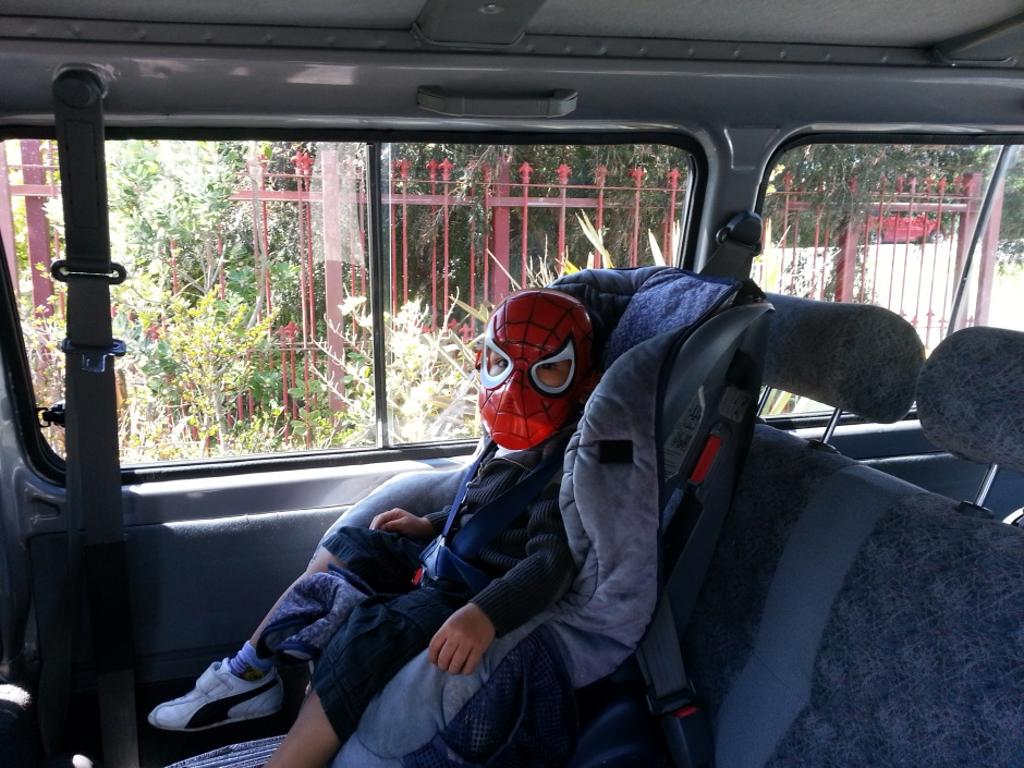 Even Spiderman needs to be buckled in :)