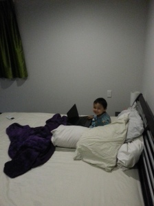 It's 9.30pm and I sneaked out of my room to play on Papa's Laptop.  I should be sleeping :)