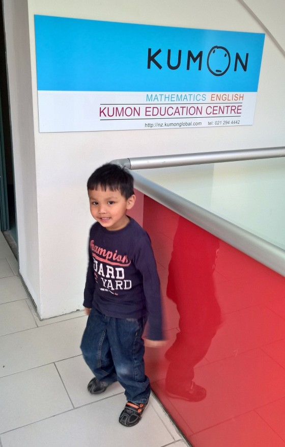 First day at kumon class!